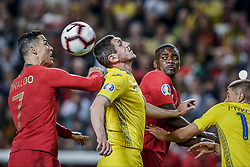 March 22, 2019 - Na - Lisbon, 03/22/2019 - The Portuguese Football Team received this afternoon their Ukrainian counterpart at the Estádio da Luz in Lisbon, in the Group B game, in the qualifying round for the 2020 European Championship. Cristiano Ronaldo; Roman Bezus; William Carvalho  (Credit Image: © Atlantico Press via ZUMA Wire)