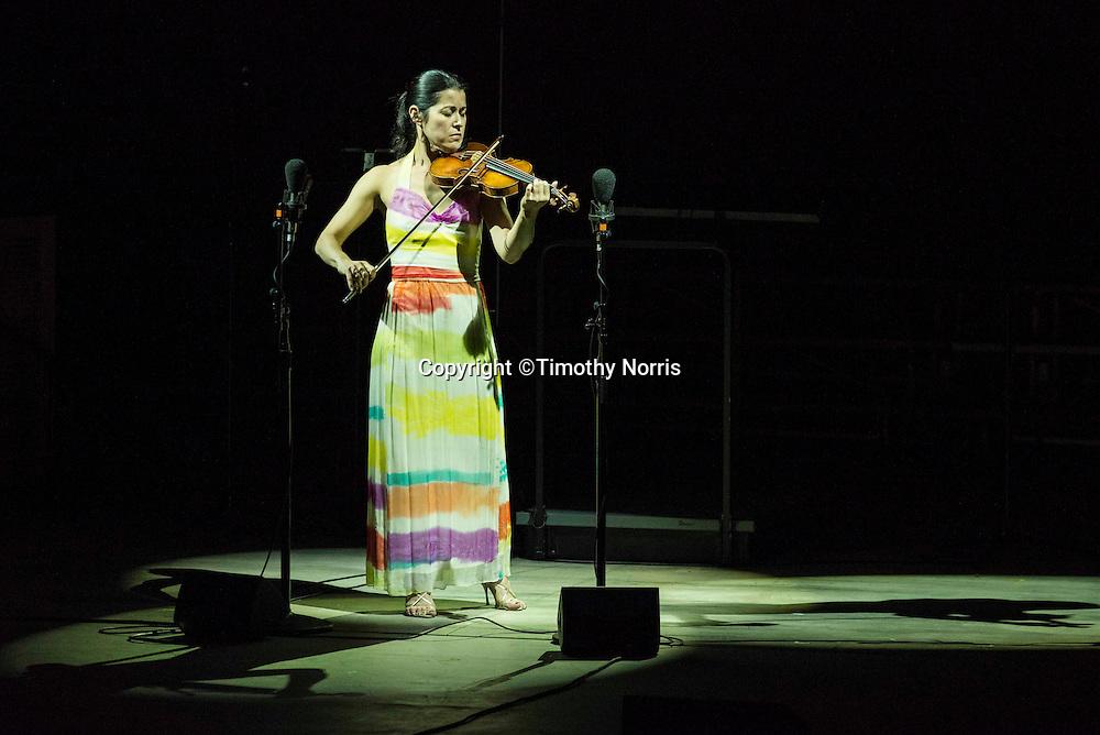 Jennifer Frautschi (violin) performs J.S. Bach's Sonata No. 3 in C Major, BWV 1005 at the 68th Ojai Music Festival at Libbey Bowl on June 14, 2014 in Ojai, California.