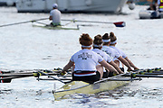 Henley-on-Thames. United Kingdom.  2017 Henley Royal Regatta, Henley Reach, River Thames. <br /> Glouester Rowing Club, sculling upto the start, for the final the Diamond Jubilee Challenge Cup. <br /> <br /> 15:49:50  Sunday  02/07/2017   <br /> <br /> [Mandatory Credit. Peter SPURRIER/Intersport Images.