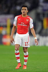 Arsenal's Alexis Sanchez - Photo mandatory by-line: Dougie Allward/JMP - Mobile: 07966 386802 - 22/10/2014 - SPORT - Football - Anderlecht - Constant Vanden Stockstadion - R.S.C. Anderlecht v Arsenal - UEFA Champions League - Group D