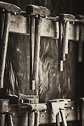 Hmmers and Hatchets for boat making at the St Michaels boat house in St michaels Maryland