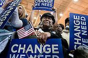 Senator Barack Obama makes a campaign stop in Harrisonburg, Virginia