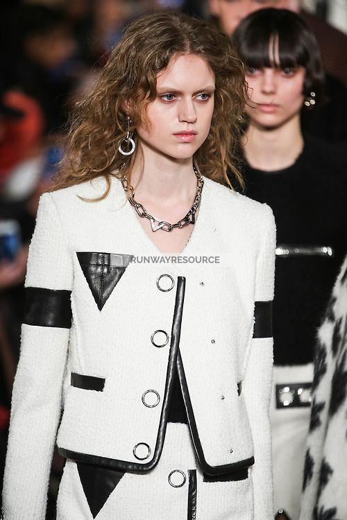 Frida Westerlund walks the runway wearing Alexander Wang Fall 2016 during New York Fashion Week on February 13, 2016