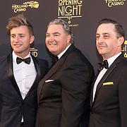 NLD/Amsterdam/20180927 - Opening Holland Casino Amsterdam West, Jan Versteegh, erwin van Lambaart en Jeremy Baker