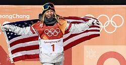 February 12, 2018 - PyeongChang, South Korea - Gold medal winner CHLOE KIM of USA in Snowboard Ladies' Halfpipe Final at Phoenix Snow Park during the 2018 Pyeongchang Winter Olympic Games. (Credit Image: © Jon Gaede via ZUMA Wire)