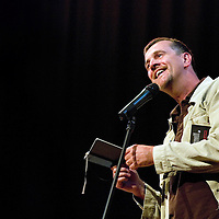 Mark Billingham<br /> On stage at the Stoke Newington Literary Festival. 4 June 2010<br /> <br /> Picture by David X Green/Writer Pictures