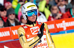 29.01.2017, Casino Arena, Seefeld, AUT, FIS Weltcup Nordische Kombination, Seefeld Triple, Skisprung, im Bild Samuel Costa (ITA) // Samuel Costa of Italy reacts after his Competition Jump of Skijumping of the FIS Nordic Combined World Cup Seefeld Triple at the Casino Arena in Seefeld, Austria on 2017/01/29. EXPA Pictures © 2017, PhotoCredit: EXPA/ JFK