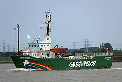 © Licensed to London News Pictures. FILE PICTURE 07/06/2013. Photos of the ship Arctic Sunrise taken on her last visit to London on June 7th 2013. The ice breaker belongs to environmental campaigners Greenpeace and has been seized by Russian authorities. Credit : Rob Powell/LNP