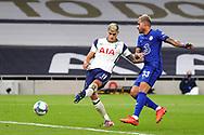 Goal 1-1 Tottenham Hotspur midfielder Erik Lamela (11) scores a goal to equalise  during the EFL Cup Fourth Round match between Tottenham Hotspur and Chelsea at Tottenham Hotspur Stadium, London, United Kingdom on 29 September 2020.