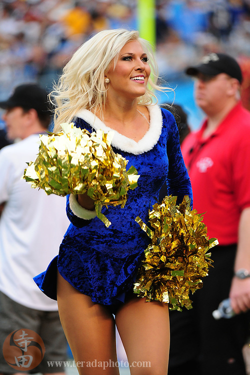 December 20, 2009; San Diego, CA, USA; San Diego Charger Girls cheerleader Jacquelyn Peterson performs during the fourth quarter against the Cincinnati Bengals at Qualcomm Stadium. The Chargers defeated the Bengals 27-24. Mandatory Credit: Kyle Terada-Terada Photo
