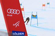 SOELDEN, AUSTRIA. OCTOBER 17 2020:  1st Women's Giant Slalom as part of the Alpine Ski World Cup in Solden on October 17, 2020; Run 2, Valerie Grenier (CAN) in action ( Pierre Teyssot/ESPA Images-Image of Sport)