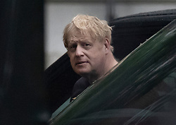 © Licensed to London News Pictures. 17/06/2021. London, UK. Prime Minister Boris Johnson returns to Downing Street after his morning run. Former chief government advisor Dominic Cummings has released WhatsApp messages showing the Prime Minister criticising Health Secretary Matt Hancock. Photo credit: Peter Macdiarmid/LNP