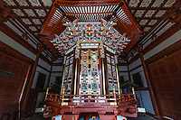 Buddhist Scriptures at Naritasan Shinshoji, encased in a revolving bookcase,  Naritasan Shinshoji is one of the most important Buddhist temples in the Tokyo area, and the Head of the Chisan Shingon Buddhism sect.