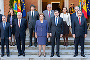 Brazil's president Dilma Rousseff and Mariano Rajoy with ministers of both countries