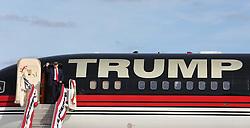 Republican presidential candidate Donald Trump arrives at a tarmac rally at Orlando-Sanford International Airport, on October 25, 2016 in Sanford, FL, USA. Photo by Joe Burbank/Orlando Sentinel/TNS/ABACAPRESS.COM