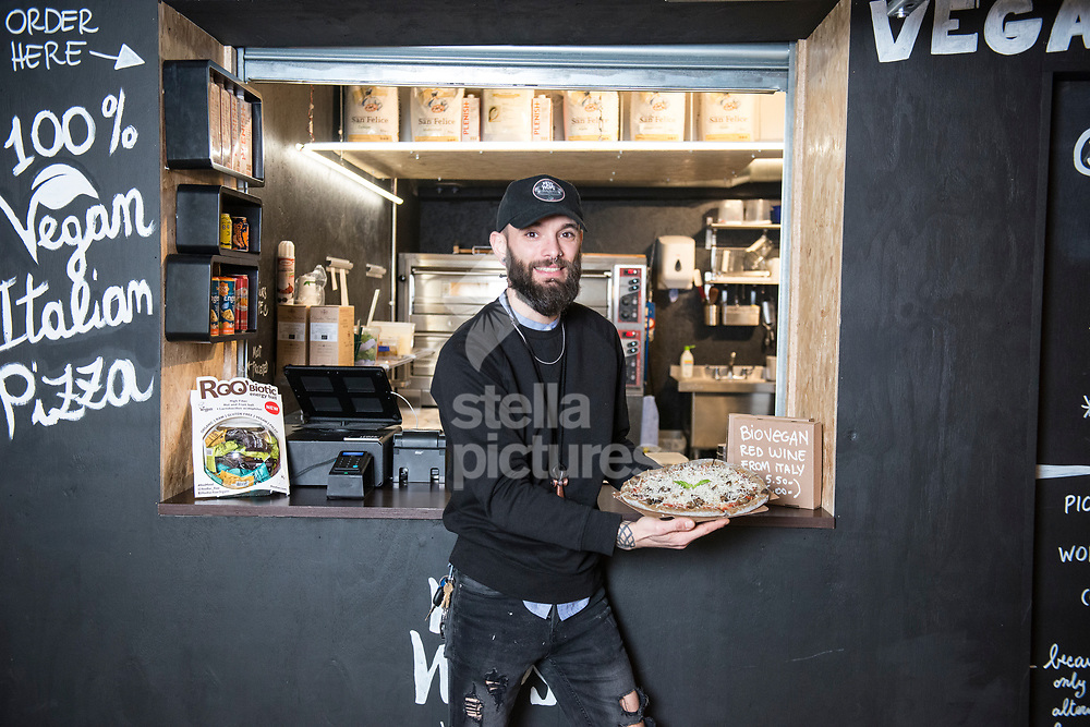 Cristiano Vitelli from PickyWops at Peckham Levels, a former car park turned into a creative hub.<br /> Picture by Daniel Hambury/Stella Pictures Ltd 07813022858<br /> 10/01/2018