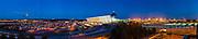 Dulles international Airport in Virginia at sunset