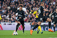 PSG Neymar Jr and Kylian Mbappe during Eight Finals Champions League match between Real Madrid and PSG at Santiago Bernabeu Stadium in Madrid , Spain. February 14, 2018. (ALTERPHOTOS/Borja B.Hojas)