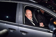 The King Juan Carlos leave  the clinic San jose after his admission 9 days ago