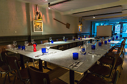 Pizza Express function room. Reigate, March 06 2018.