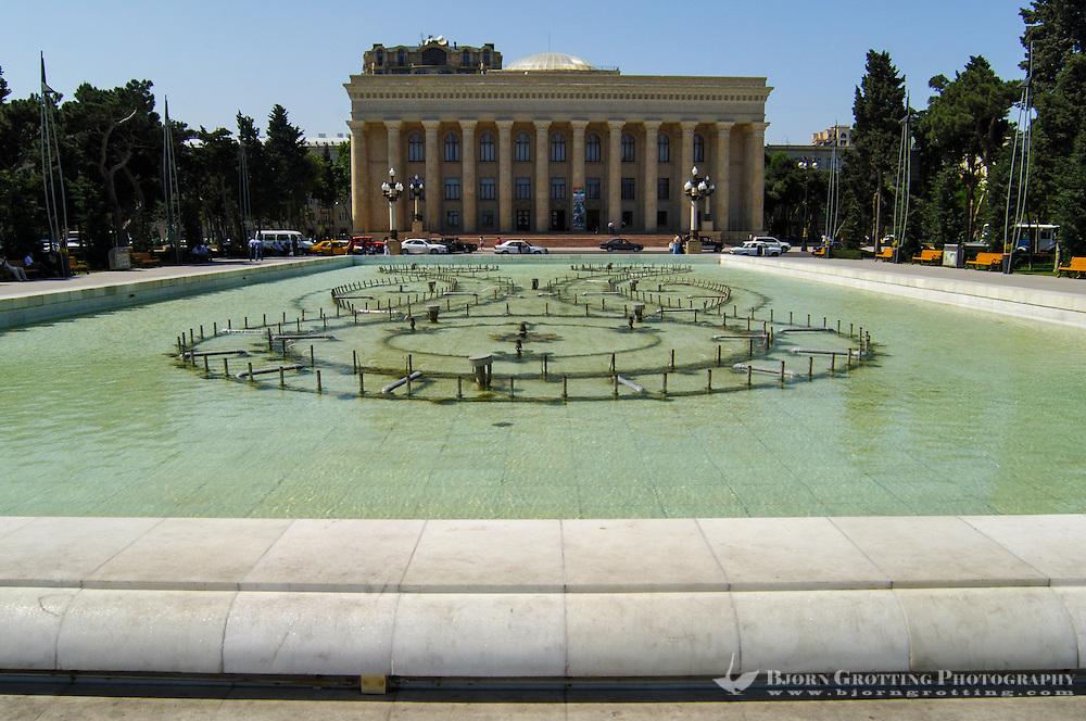 Azerbaijan, Baku. Azerbaijan State Carpet Museum has the largest collection of Azerbaijani carpets in the world.