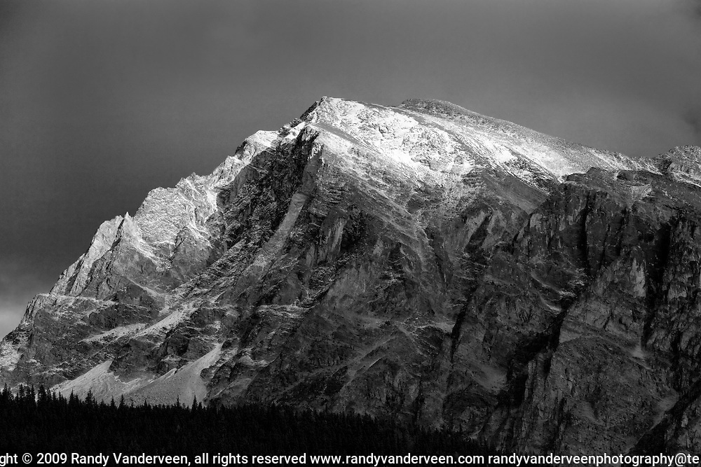 Photo Randy Vanderveen.Jasper AB.02/10/09.Mount Hardisty in Jasper National Park south on the Icefields Parkway