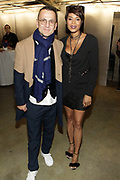 """NEW YORK, NEW YORK-FEBRUARY 13: (L-R) Steven Kolb President of CFDA Council for Fashion Design and Designer Aisha McShaw attend """" CAPTURED"""" the Fall/Winter Collection 2019 presented by Designer Aisha McShaw during New York Fashion Week and held at the Gallery at Prince George Ballroom on February 11, 2019 in New York City.  (Photo by Terrence Jennings/terrencejennings.com)"""