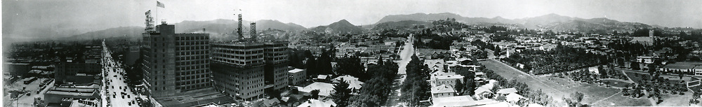 1924 Panorama from Hollywood Blvd. & Vine St.