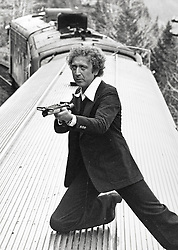 GENE WILDER, (born Jerome Silberman, June 11, 1933 - August 28, 2016) was an American stage and screen comic actor, screenwriter, film director, and author. He was known best for the lead role in the 1971 film 'Willy Wonka in Willy Wonka & the Chocolate Factory,' and the Mel Brooks comedies 'Blazing Saddles', and 'Young Frankenstein', which Wilder co-wrote, garnering the pair an Academy Award nomination for Best Adapted Screenplay. Wilder died at age 83 from complications from Alzheimer's disease. PICTURED: GENE WILDER in the 1976 film 'Silver Streak.' (Credit Image: © 20TH CENTURY FOX/Entertainment Pictures/ZUMAPRESS.com)