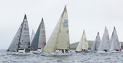 Day one of the Silvers Marine Scottish Series 2015, the largest sailing event in Scotland organised by the  Clyde Cruising Club<br /> Racing on Loch Fyne from 22rd-24th May 2015<br /> <br /> IRC 4 Start with GBR2912, Ted, Peter Doig, East Antrim BC, Corby 29<br /> <br /> Credit : Marc Turner / CCC<br /> For further information contact<br /> Iain Hurrel<br /> Mobile : 07766 116451<br /> Email : info@marine.blast.com<br /> <br /> For a full list of Silvers Marine Scottish Series sponsors visit http://www.clyde.org/scottish-series/sponsors/