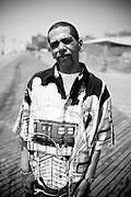 An afro american man, Coney Island. New York City, 19 june 2010. Christian Mantuano / OneShot