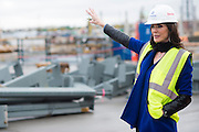 Charlotte Jones Anderson walks around the construction site at The Star, the new home of the Dallas Cowboys headquarters and practice facilities, in Frisco, Texas on November 30, 2015.  (Cooper Neill for The New York Times)