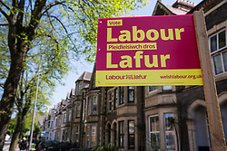 Cardiff, UK. 2nd May, 2017. A Cardiff Council election sign for Welsh Labour.