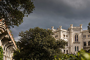 Low angle view of Miramare Castle, Trieste, Italy
