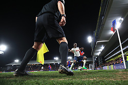 26 April 2017 - Premier League - Crystal Palace v Tottenham Hotspur - Moussa Sissoko of Tottenham Hotspur tangles with Jeffrey Schlupp of Crystal Palace under the gaze of the linesman - Photo: Marc Atkins / Offside.