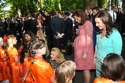 KONINGINNEDAG 2009 in Apeldoorn / Queensday 2009 in the city of Apeldoorn.<br /> <br /> Op de foto / On the Photo:<br />   Princes Annette , Marilène , Aimee and Annette arive at the Oranjepark in Apeldoorn
