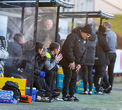 Partick Thistle's Ian McColl after Dunfermline's first penalty. Dunfermline 5 v 1 Partick Thistle, Scottish Championship game played 30/11/2019 at Dunfermline's home ground, East End Park.