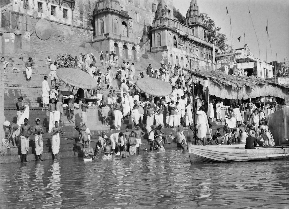 Bathing, Benares, India, 1929