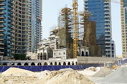 New mosque under construction in Marina district of Dubai United Arab Emirates