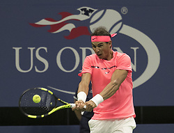 August 30, 2017 - Flushing Meadows, New York, U.S - Rafael Nadal during his match on Day Two of the 2017 US Open with Dusan Lajovic at the USTA Billie Jean King National Tennis Center on Monday August 29, 2017 in the Flushing neighborhood of the Queens borough of New York City. Nadal defeats Lajovic, 7-6(8-6), 6-2, 6-2. (Credit Image: © Prensa Internacional via ZUMA Wire)