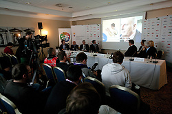 Press conference at Eurobasket 2013 Candidate presentation of Slovenia at FIBA EUROPE Board on December 05, 2010 in Munich, Germany. The Board decided that Eurobasket 2013 will be hold in Slovenia. (Photo By Vid Ponikvar / Sportida.com)