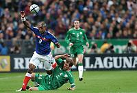 Fotball<br /> VM-kvalifisering<br /> Frankrike v Irland<br /> 9. oktober 2004<br /> Foto: Digitalsport<br /> NORWAY ONLY<br /> DJIBRIL CISSE (FRA) / KENNETH CUNNINGHAM (IRE)