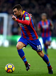 """Crystal Palace's James McArthur during the Premier League match at Selhurst Park, London. PRESS ASSOCIATION Photo. Picture date: Saturday January 13, 2018. See PA story SOCCER Palace. Photo credit should read: Daniel Hambury/PA Wire. RESTRICTIONS: EDITORIAL USE ONLY No use with unauthorised audio, video, data, fixture lists, club/league logos or """"live"""" services. Online in-match use limited to 75 images, no video emulation. No use in betting, games or single club/league/player publications"""