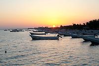 Sunrise along the coast of Holbox, Mexico.
