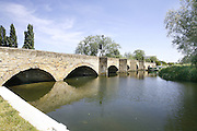 Nine Arches bridge over the River Nene between Islip and Thrapston in Northamptonshire