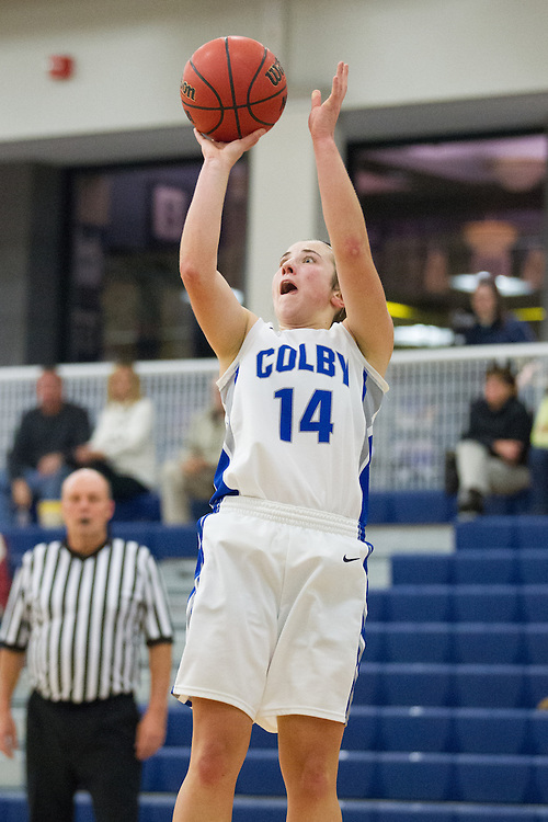 Gabe Donahue, of Colby College, during an NCAA Division III college basketball game against St. Joseph's at The Whitmore-Mitchell at Wadsworth Gymnasium, Thursday Dec. 5, 2013 in Waterville, ME.  (Dustin Satloff/Colby College Athletics)