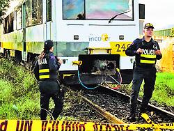 """October 2, 2018 - (02/10/2018) El suceso se dio a las 5:43 a. m. de este lunes, en Rincón Grande de Pavas, 150 metros al este de la empresa Demasa. El maquinista fue quien dio aviso a las autoridades al ver el cuerpo sobre la vía. PROHIBIDO EL USO O REPRODUCCIÃ""""N EN COSTA RICA. (Credit Image: © La Nacion via ZUMA Press)"""