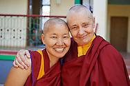 Jetsunma Tenzin Palmo with Yshe Lhamo  one of the Geshema