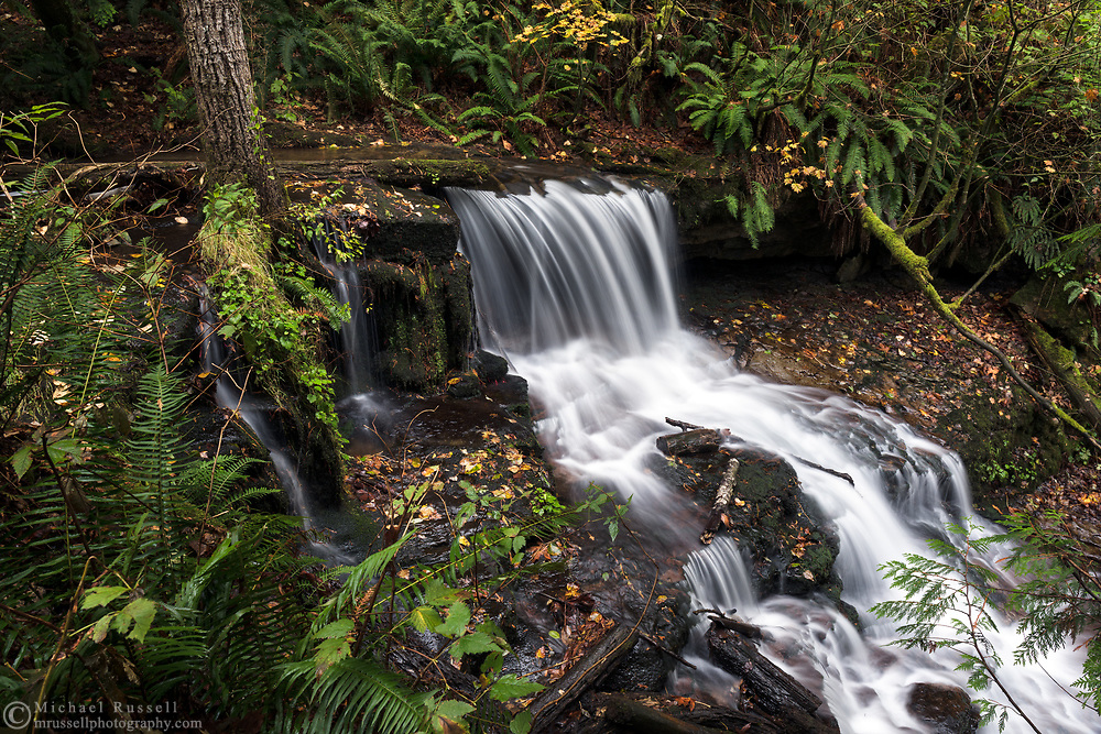 A waterfall along Dianne Brook on the slopes of Sumas Mountain in Abbotsford, British Columbia, Canada