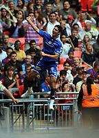 Hany El Egezy Celebrates Scoring 1st goal<br /> Al Ahly 2009/10<br /> Barcelona FC V Al Ahly 26/07/09<br /> The Wembley Cup at Wembley Stadium<br /> Photo Robin Parker Fotosports International